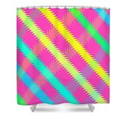 Textured Check Shower Curtain by Louisa Knight