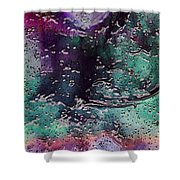 Textures Of The Heart Shower Curtain by Linda Sannuti