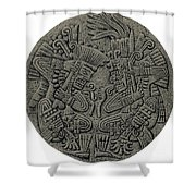 Tezcatlipoca And Huitzilopochtli Shower Curtain by Photo Researchers