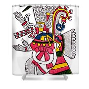 Tezcatlipoca, Aztec God Of Night, Codex Shower Curtain by Photo Researchers