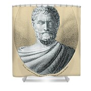 Thales, Ancient Greek Philosopher Shower Curtain by Photo Researchers, Inc.