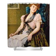 The Afternoon Rest Shower Curtain by John Morgan