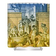 The Art Of Brewing, Babylon Shower Curtain by Science Source