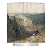 The Avon Gorge - Looking Over Clifton Shower Curtain by Francis Danby