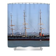 The Balclutha . A 1886 Square Rigged Cargo Ship At The Hyde Street Pier In Sf California . 7d14069 Shower Curtain by Wingsdomain Art and Photography