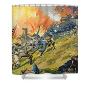 The Battle Of Gettysburg Shower Curtain by Severino Baraldi