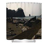 The Beach At Twilight Shower Curtain by Kym Backland
