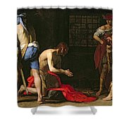 The Beheading Of John The Baptist Shower Curtain by Massimo Stanzione