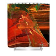 The Bird Whisperer . Square . A120423.693 Shower Curtain by Wingsdomain Art and Photography
