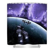 The Blockade Runner Treacherous Shower Curtain by Brian Christensen