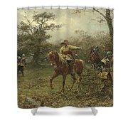 The Boscobel Oak Shower Curtain by Earnest Crofts