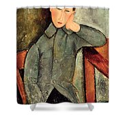 The Boy Shower Curtain by Amedeo Modigliani