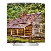 The Bud Ogle Homestead Shower Curtain by Barry Jones