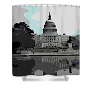 the Capitol Shower Curtain by George Pedro