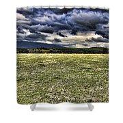 The Cattle Farm Shower Curtain by Douglas Barnard