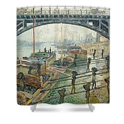 The Coal Workers Shower Curtain by Claude Monet