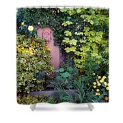 The Courtyard Garden, Fairfield Lodge Shower Curtain by The Irish Image Collection