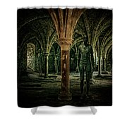 The Crypt Shower Curtain by Chris Lord