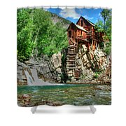 The Crystal Mill 1 Shower Curtain by Ken Smith