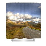 The Cuillin Mountains Of Skye Shower Curtain by Chris Thaxter