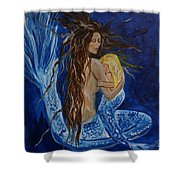 The Deepest Love Shower Curtain by Leslie Allen