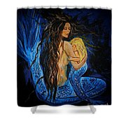 The Deepest Love Series 3 Shower Curtain by Leslie Allen