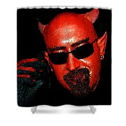 The Devil You Say Shower Curtain by David Lee Thompson