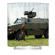 The Dingo II In Use By The Belgian Army Shower Curtain by Luc De Jaeger