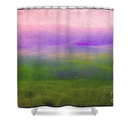 The Distant Hills Shower Curtain by Judi Bagwell
