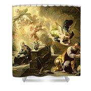 The Dream of Saint Joseph Shower Curtain by Luca Giordano
