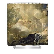 The Dream Of Solomon Shower Curtain by Luca Giordano