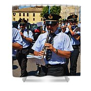 The Fanfare Shower Curtain by Dany Lison