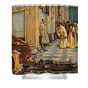 The Favourites Of Emperor Honorius Shower Curtain by John William Waterhouse