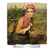 The Fern Gatherer Shower Curtain by Charles Sillem Lidderdale