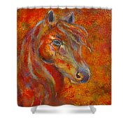 The Fire Of Passion Shower Curtain by The Art With A Heart By Charlotte Phillips