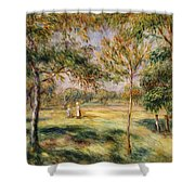 The Glade Shower Curtain by Pierre Auguste Renoir