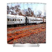 The Golden Age Of Railroads . 7d115623 Shower Curtain by Wingsdomain Art and Photography