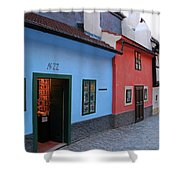The Golden Lane Shower Curtain by Mariola Bitner