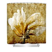The Golden Magnolia Shower Curtain by Andee Design