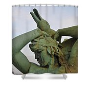 The Goose Strangler Shower Curtain by Bill Cannon