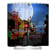 The Great White Phoenix Of Chinatown . 7d7172 Shower Curtain by Wingsdomain Art and Photography