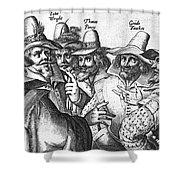 The Gunpowder Rebellion, 1605 Shower Curtain by Photo Researchers