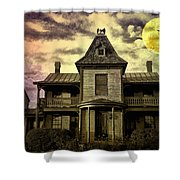 The Haunted Mansion Shower Curtain by Bill Cannon