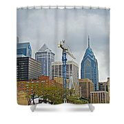 The Heart Of The City - Philadelphia Pennsylvania Shower Curtain by Mother Nature