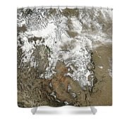 The High Peaks Of The Rocky Mountains Shower Curtain by Stocktrek Images