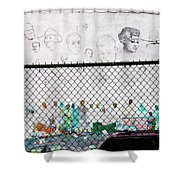 The History Wall Shower Curtain by Terry Wallace
