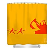 The Hunters Shower Curtain by Pixel Chimp