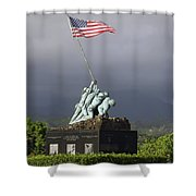The Iwo Jima Statue Shower Curtain by Michael Wood