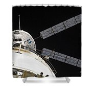The Johannes Kepler Automated Transfer Shower Curtain by Stocktrek Images