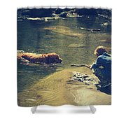 The Joys of Innocence Shower Curtain by Laurie Search